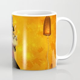 Fantasy women with carousel and horses Coffee Mug