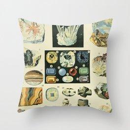 Vintage Minerals Chart Throw Pillow