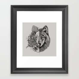 New Wolf (Half Life) Framed Art Print