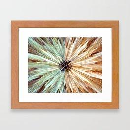 Mirror Wheat Burst I Framed Art Print