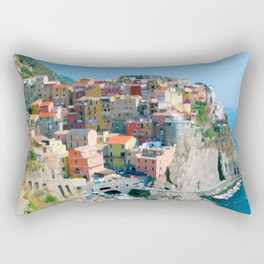 Italy. Cinque Terre - Cliffside Rectangular Pillow