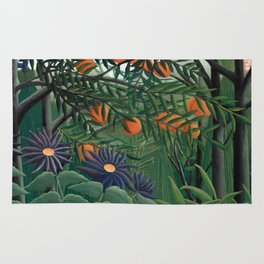 Woman Walking in an Exotic Forest, Henri Rousseau, 1905 Rug