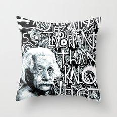 Einstein.  Throw Pillow