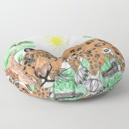 Indian Leopard Floor Pillow