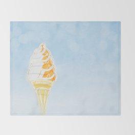 Vintage Ice Cream Sign Throw Blanket