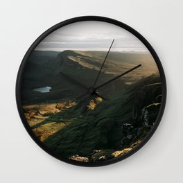 The Quiraing - scotland, isle of skye, landscape, nature, mountains Wall Clock