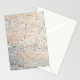Pink & Gray Marble Stationery Cards