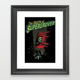 the death of super grover. Framed Art Print