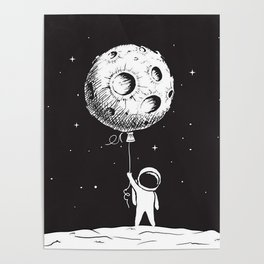 Fly Moon Poster