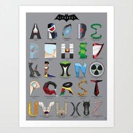 The Alphabat  - Vertical Rookie Art Print