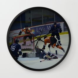 Dive for the Goal - Ice Hockey Wall Clock