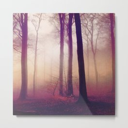 mysts - winter forest in fog Metal Print