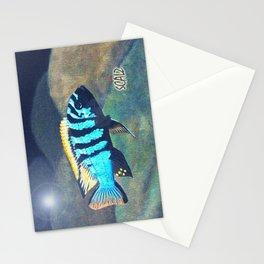 Blue Sentinel Cichlid Stationery Cards