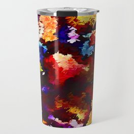 Flower Market Abstract Travel Mug