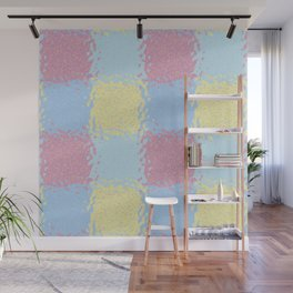 Pastel Jiggly Tile Pattern Wall Mural