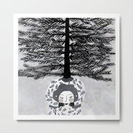 Ciprés / Frío Metal Print