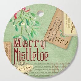 Merry Mistletoe Cutting Board
