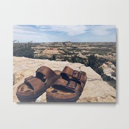 A Step in the Right Direction (aka Theodore Roosevelt NP) Metal Print