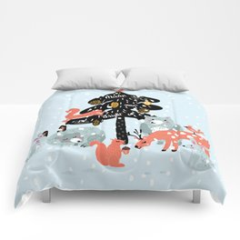 Christmas fairytale Comforters