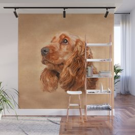 English Cocker Spaniel Dog Digital Art Wall Mural