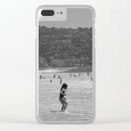 Beach life Clear iPhone Case
