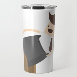 Off To Work Using A Cannonball Travel Mug