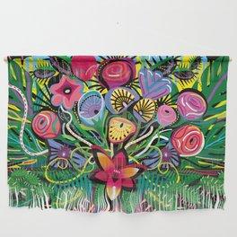 Tropical Flower Arrangement Wall Hanging