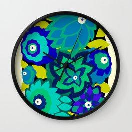 CAMBRIA, ART DECO FLORALS: SEASIDE CHIC Wall Clock