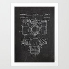 Photo Camera Poster Patent Art Print