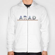 arad city text Hoody