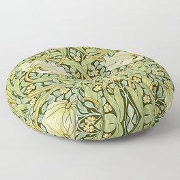 W Morris Pipernel Art Nouveau Detail Floor Pillow