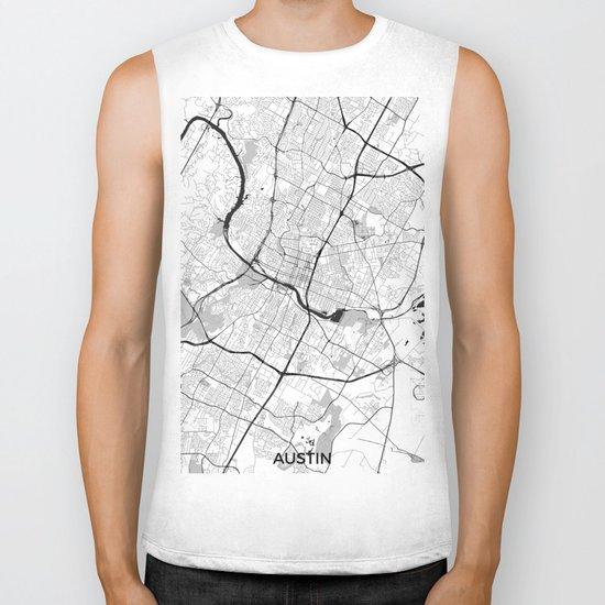 Austin Map Gray Biker Tank