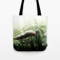 grass Tote Bags featuring grass by emegi