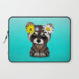 Cute Baby Raccoon Hippie Laptop Sleeve