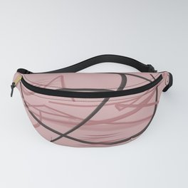 abstract form in pastel pink Fanny Pack