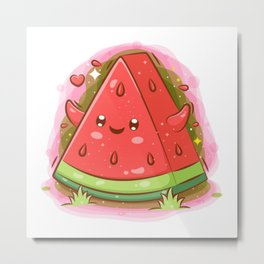 Sweet Watermelon Metal Print