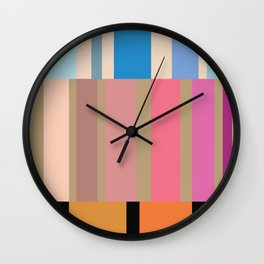 Many stripes Wall Clock
