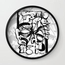 Weird Sensation - b&w Wall Clock