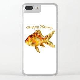 Elegant Happy Nowruz Goldfish Persian New Year Clear iPhone Case