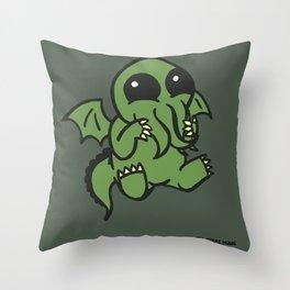 Cute Cthulu  Throw Pillow