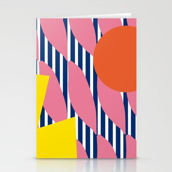 Stripe Sunrise Stationery Cards