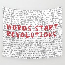 Words Start Revolutions Wall Tapestry