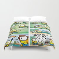 minion Duvet Covers featuring Minion by Duitk