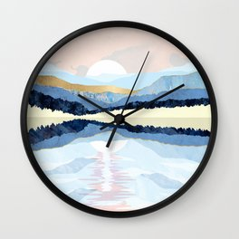 Winter Reflection Wall Clock