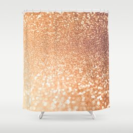 The late Sunset - Rosegold Gold glitter pattern Shower Curtain
