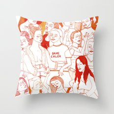 Dame Calor Throw Pillow
