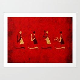 Forms of Prayer - Red Art Print