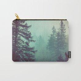 Forest Fog Fir Trees Carry-All Pouch