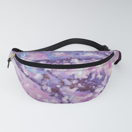 Violet and pink marble texture Fanny Pack