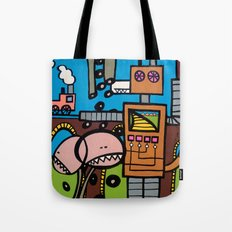 the TRAIN has LEFT THE STATION Tote Bag